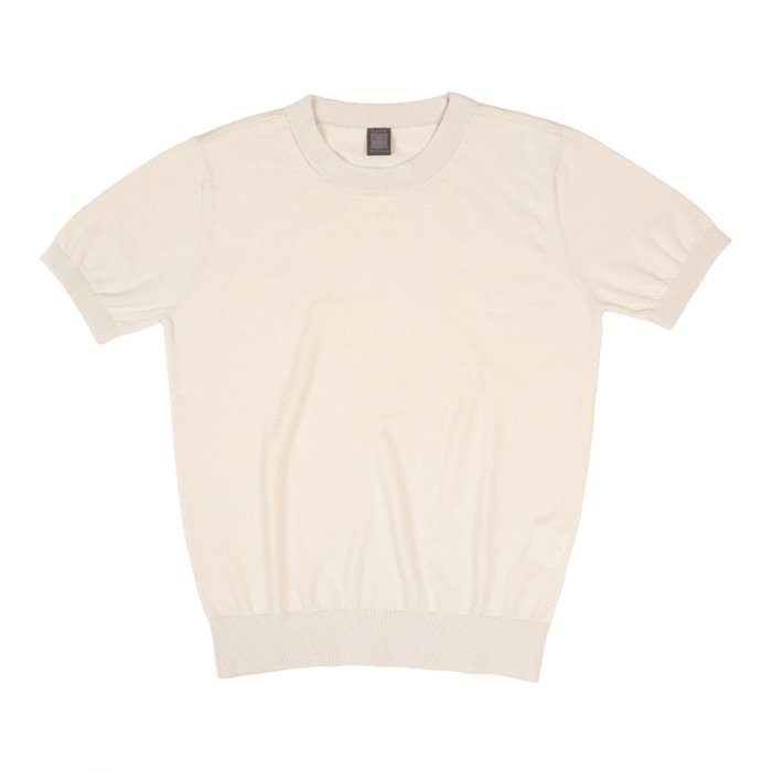 Women Supima half Crewneck_Cream