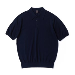 Supima half collar_Navy