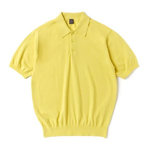 Supima half collar_Lemon