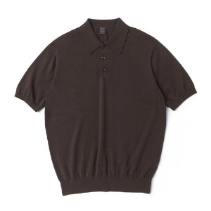Supima half collar_Brown