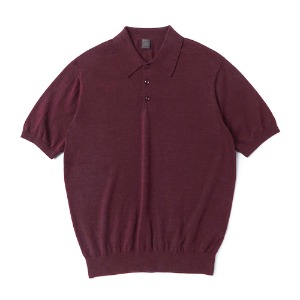 Supima half collar_Burgundy