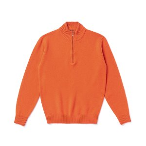 Half Zipup Mockneck(Cashmere blended)_Orange