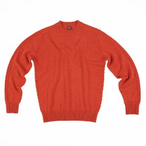 Cable Crewneck_Orange