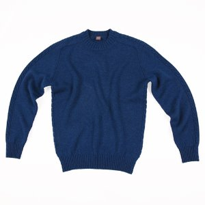 Cable Crewneck_Blue