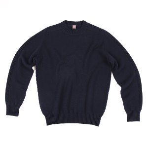 Cable Crewneck_Navy