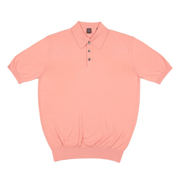 S/S Cotton Knitted Polo(SUPIMA)_Pink