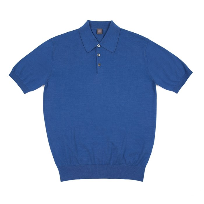 S/S Cotton Knitted Polo(SUPIMA)_Cobalt Blue